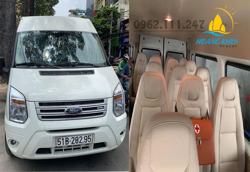Xe 16 chỗ đón tiễn sân bay giá rẻ tại Tp Hồ Chí Minh