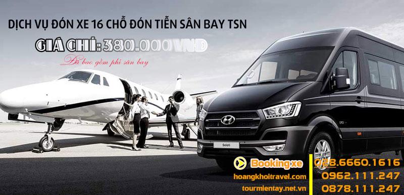 Dịch vụ thuê xe 16 chỗ đón tiễn sân bay giá rẻ 380.000đ