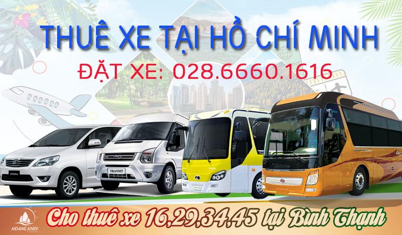 Cho thuê xe 16 chỗ, 29 chỗ, 34 chỗ, 45 chỗ tại quận Bình Thạnh