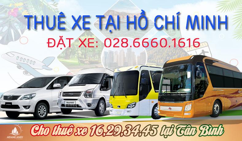 Cho thuê xe 16, 29, 34, 45 chỗ quận Tân Bình