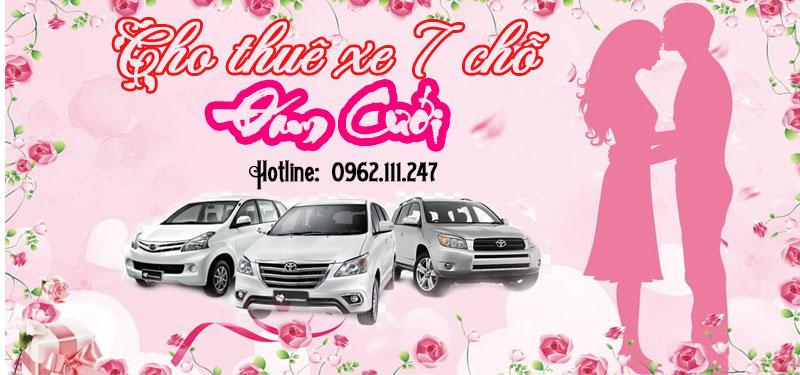 Cho thuê xe 7 chỗ đám cưới rẻ nhất Sài Gòn