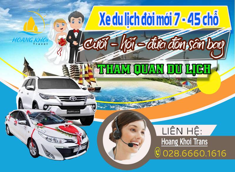 Xe du lịch, 16 chỗ, 29 chỗ, 34 chỗ, 45 chỗ, giá rẻ tại Hồ Chí Minh