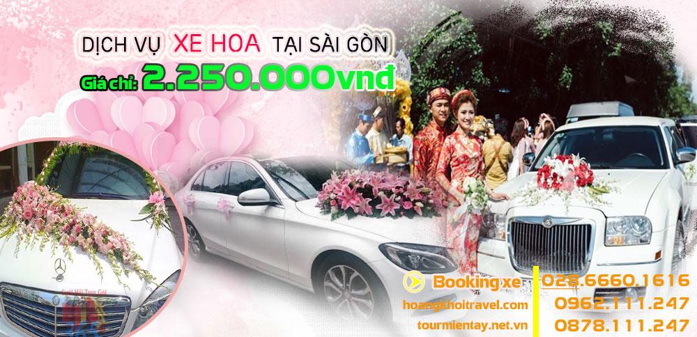 Cho thuê xe Hoa giá rẻ nhất tại Tp. Hồ Chí Minh