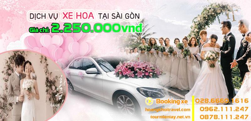 Cho thuê xe hoa, xe cưới cap cấp tại sài gòn