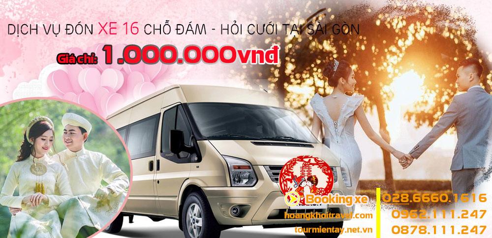 Dịch Vụ cho thuê 16 chỗ đám cưới giá rẻ tại Sài Gòn