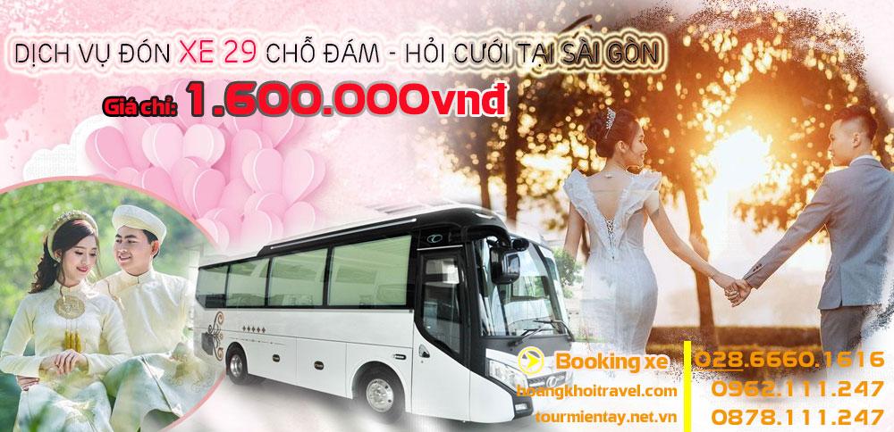 Dịch Vụ cho thuê 29 chỗ đám cưới giá rẻ tại Sài Gòn