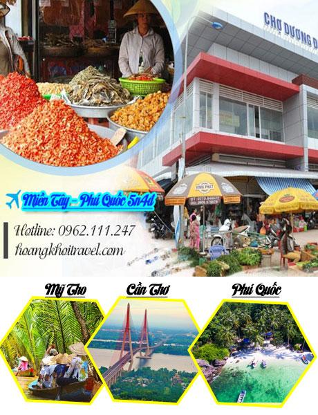 Tour du lịch miền Tây - Phú Quốc 5 ngày 4 đêm  | giá từ 5.180k
